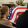 "The United States Flag drapes the casket of Col. Clem Robert ""Bob"" Lawson USAF, Old Post Chapel, Ft. Myer, VA July 8, 2009"