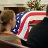 "The United States Flag drapes the casket of Col. Clem Robert ""Bob"" Lawson USAF, Old Post Chapel, Ft. Myer, VA July 8, 2009"