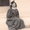 DORIS LAVERNE ROWLETT on graduation day at Alvin High School in Alvin, Texas, near Houston, in 1940.