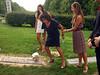 Elliot Walsey gravestone unveiling - <br /> Gabriela Lynne Hyman, left; Joan (Somerstein) Walsey, center; Alexandra Solomon, right