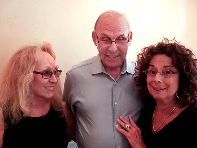 Doreen (Coleman) Solomon, left; brother Ira Coleman, center; and 1st cousin Joan (Somerstein) Walsey