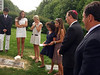 Elliot Walsey gravestone unveiling -  FRONT (around gravestone): Jackie Hyman, behind gravestone; Gabriela Lynne Hyman, to his right; Lindsay Sarah Hyman, to her right; Joan (née Somerstein) Walsey, 4th on right; Alexandra Solomon, 3rd on right; Rabbi; Alex Hyman, right