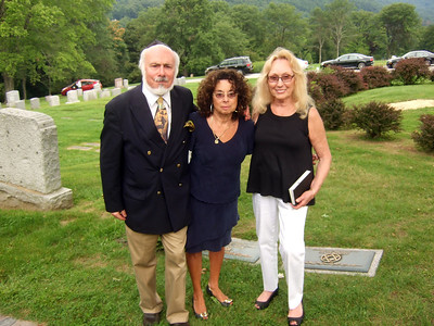 Doreen (Coleman) Solomon, (right) 1st cousin of Joan (Somerstein) Walsey, (center) and Joan's brother, Stephen F. Somerstein - Elliot Walsey gravestone unveiling and luncheon