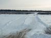 On the James Bay Winter Road between Moosonee and Moose Factory.
