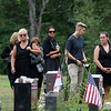 Mourners at Woodside Cemetery in Westminster during Vanessa Marcotte funeral. SENTINEL & ENTERPRISE/JOHN LOVE