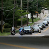 The funeral procession for Vanessa Marcotte at Our Lady of the Lake Church works it way up Main Street in Leominster. SENTINEL & ENTERPRISE/JOHN LOVE