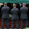 EXCHANGE-The pallbearers stand beside Vanessa Marcotte casket at Woodside Cemetery in Westminster during the funeral. SENTINEL & ENTERPRISE/JOHN LOVE