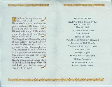 GOODBYE Gram - Hattie Fisk-Bramwell 1887-1975