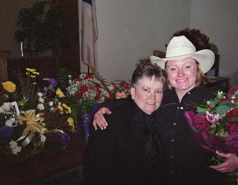 Marvel & Nikki in church.  Marvel gave Mom's Eulogy.