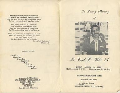 1932-1-14~ 1978-8-20 Cecil J Hall Sr {Dad}