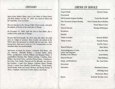 1958-5-24 ~ 2000-12-24 April Lafane Wallace -Obituary