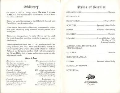 1950-8-10 ~ 1997-6-22 Denise Louise Hall - Obituary
