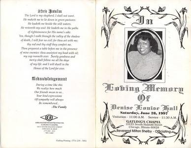 1950-8-10 ~ 1997-6-22 Denise Louise Hall