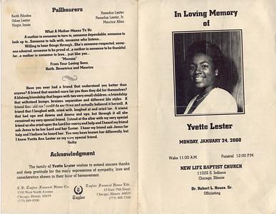1959-1-5 ~ 2000-1-18 Yvette Lester