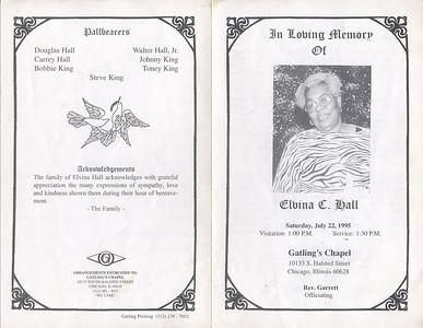 1920-130 ~1995-1-15 2004-12-30 Elvina C. Hall {Aunt}