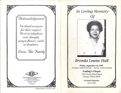 1950-12-10~1997-9-4 Brenda Louise Hall. My eldest sister.