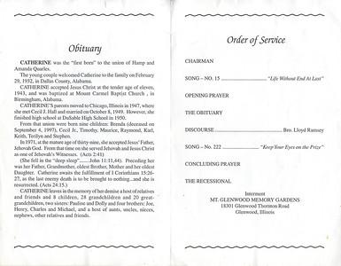 1932-2-29 ~ 2004-12-12 Catherine Hall - Obituary