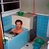 John E Dixon in Japonese bathtub