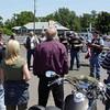 John Perkins at pre-ride briefing