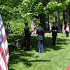Honor guard folding the flag