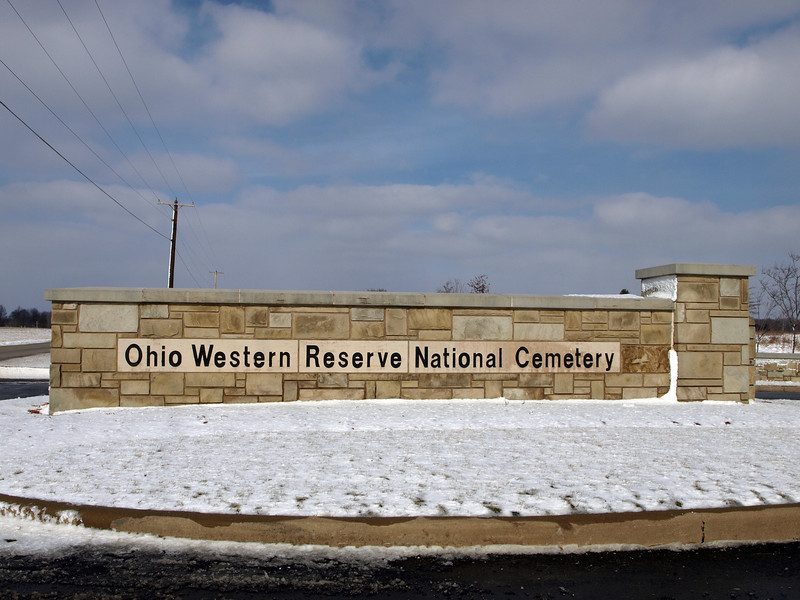 National Cemetery Entrance Sign