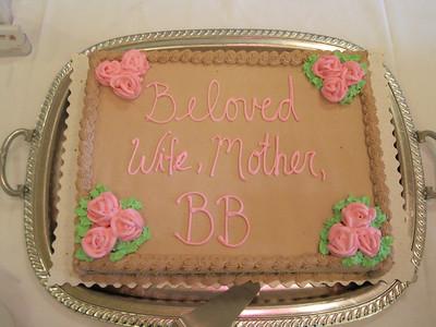 Mom's memorial service