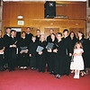 St Ann choir at the last Traditional Lation Mass at Our Lady of Peace church. Nancy Ritter, 4th from L, back row.