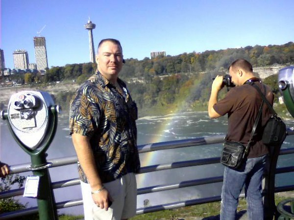 We had to go to Niagra Falls for David's Funeral. So we stopped to see the falls.