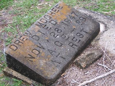 McGhee Drew headstone