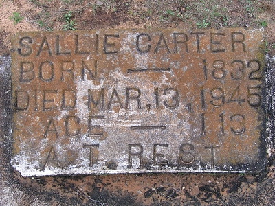 Sallie headstone 2