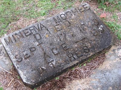 McGhee Minerva headstone