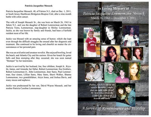 Remembering Jackie Messeck