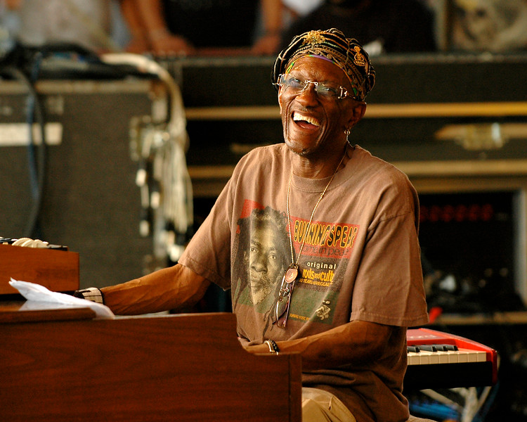 Bernie Worrell (P-Funk, Talking Heads) performing with Leo Nocentelli's Rare Funk Gathering at the New Orleans Jazz & Heritage Festival on April 25, 2008.