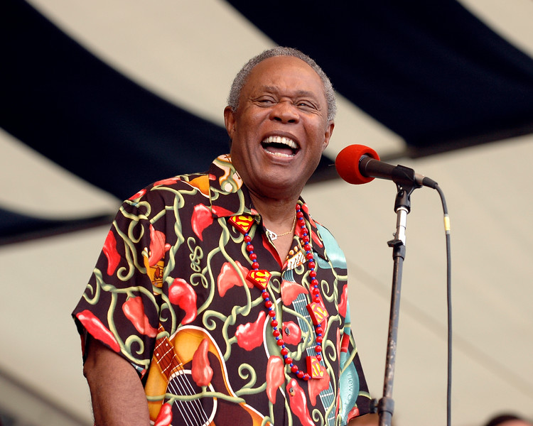 Sam Moore performs at the New Orleans Jazz & Heritage Festival on May 7, 2006.