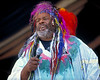 George Clinton & the P-Funk All Stars performing at the New Orleans Jazz & Heritage Festival on May 4, 1997.