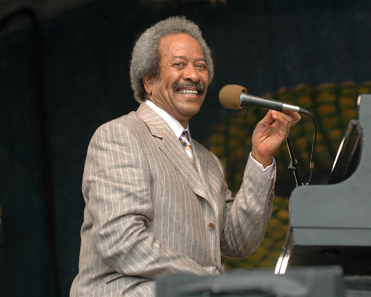 Allen Toussaint performs at the New Orleans Jazz & Heritage Festival on April 30, 2005.
