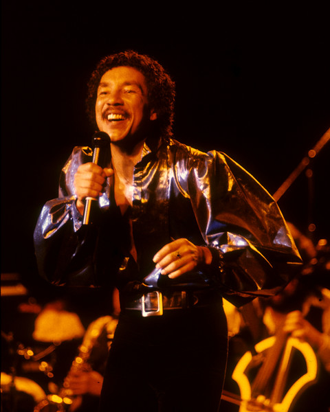 Smokey Robinson performs at the Concord Pavilion in Concord, CA on May 20, 1982.