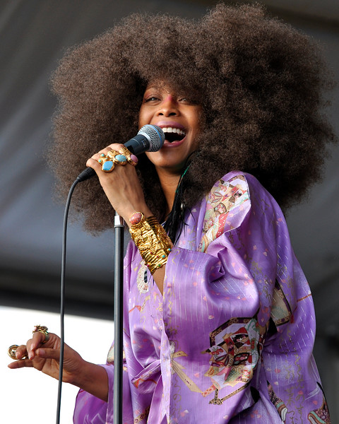 Erykah Badu performing at the New Orleans Jazz & Heritage Festival on April 25, 2009.