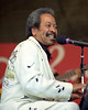 Allen Toussaint performs at the New Orleans Jazz & Heritage Festival on May 1, 1999.