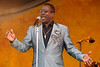 Wilson Pickett performs at the New Orleans Jazz & Heritage Festival on May 4, 2001.