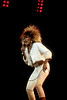 Tina Turner performing live on stage at the Oakland Coliseum on October 3, 1985.