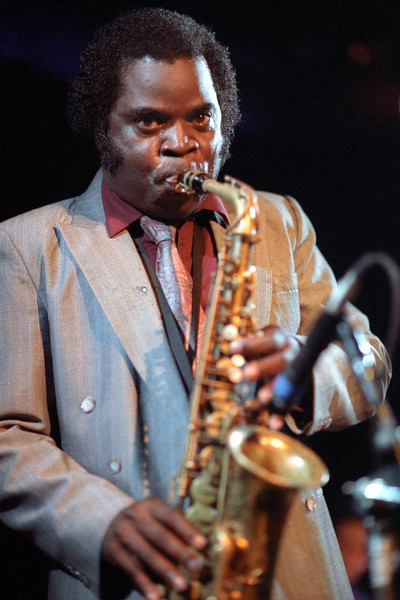 Maceo Parker performs with the JB Horns at Kimball's East in Emeryville, CA on June 12, 1991.