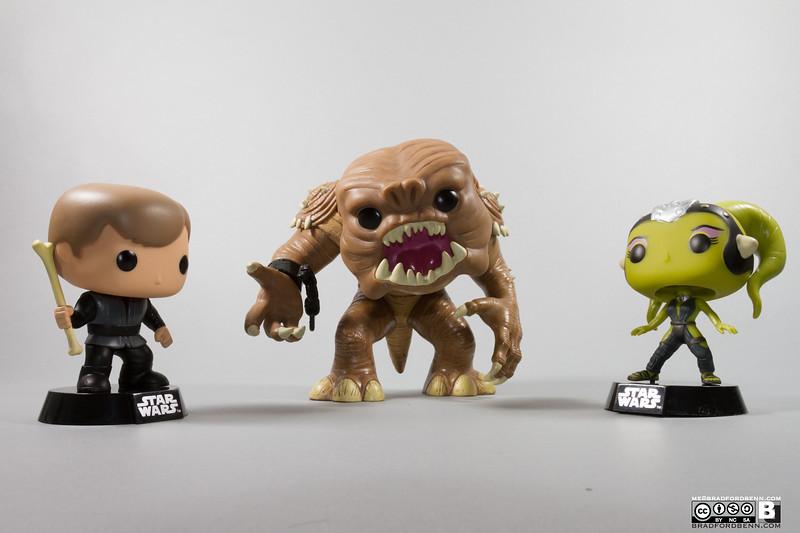 Rancor with Luke Skywalker & Slave Oola