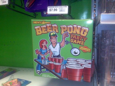 "Note the disclaimer ""2 OR MORE PLAYERS.""  Because the only thing sadder than spending $7.99 for some cups and a ping-pong ball is playing with them alone."