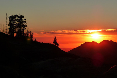 Sunset, Big Cottonwood Canyon