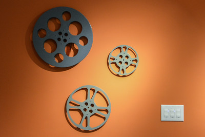 3 Film Reels, 3 light switches