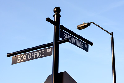Box Office Drive and Showtime Drive street signs