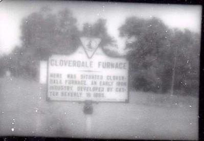 Cloverdale Furnace Historical Marker (08151)