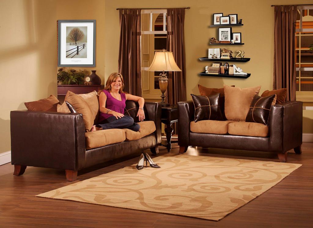 Source one 2 piece busta sofa