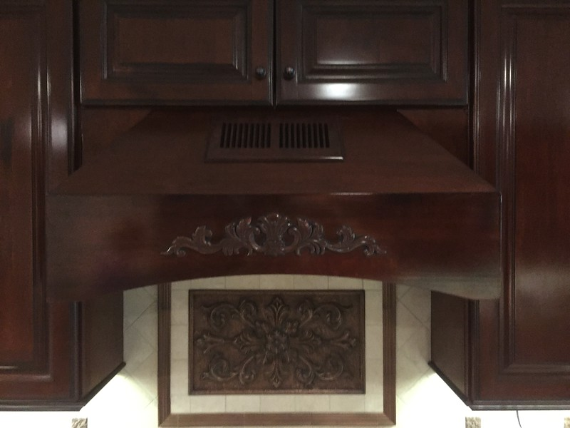 Wooden cooktop vent
